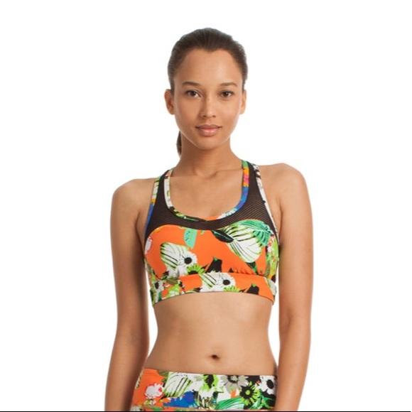 c51221f67f52a Trina Turk pop floral mesh back sports bra NWT S